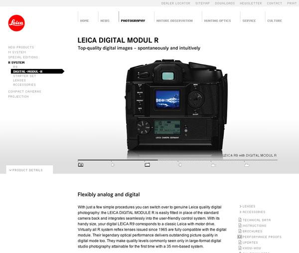 Nouveau site Leica Camera